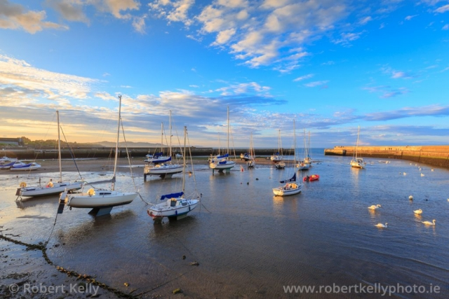 Bray Harbour at low tide, County Wicklow