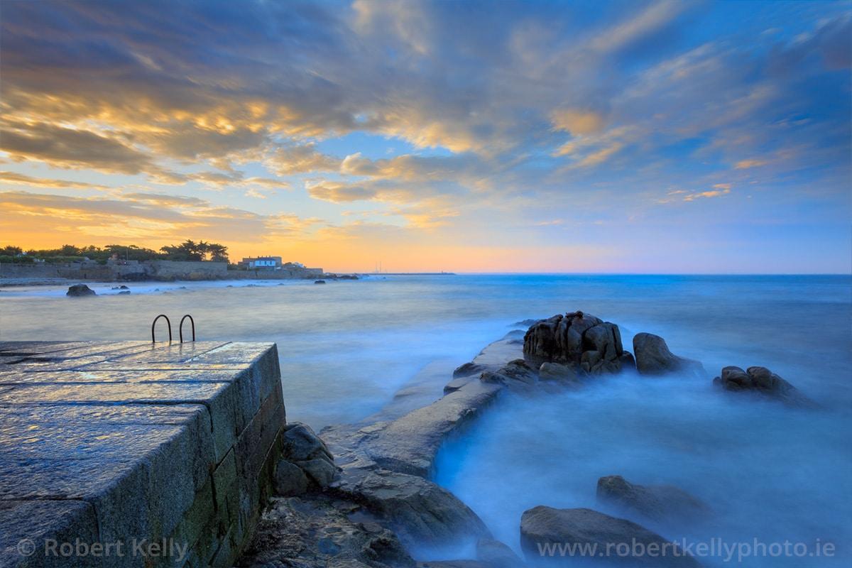 Sunset at Bulloch Harbour, Dalkey, County Dublin