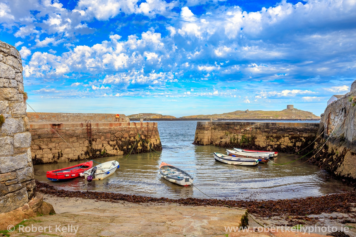 Coliemore Harbour at low tide
