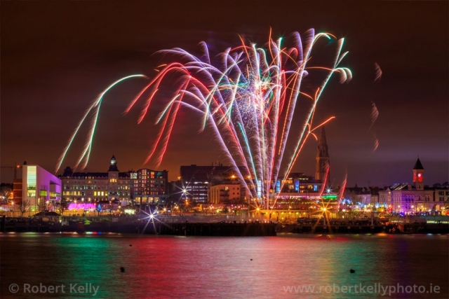 Fireworks display at Dun Laoghaire Harbour, County Dublin