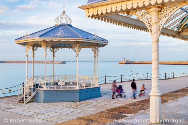 Victorian bandstand on the East Pier Dun Laoghaire Harbour Dublin Ireland