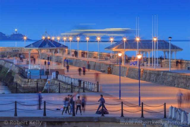 Nightfall at the East Pier, Dun Laoghaire Harbour, County Dublin, Ireland