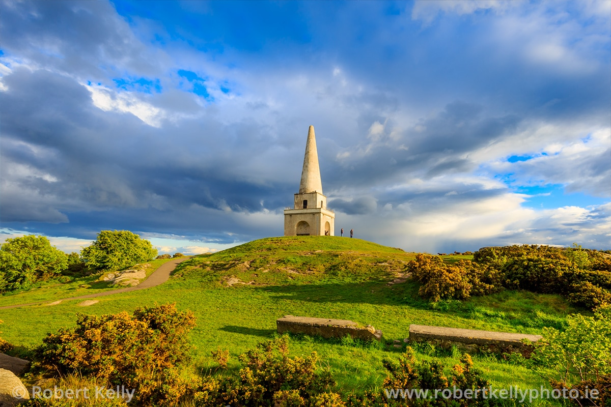 The georgian obelisk on the summit of Killiney Hill, County Dublin