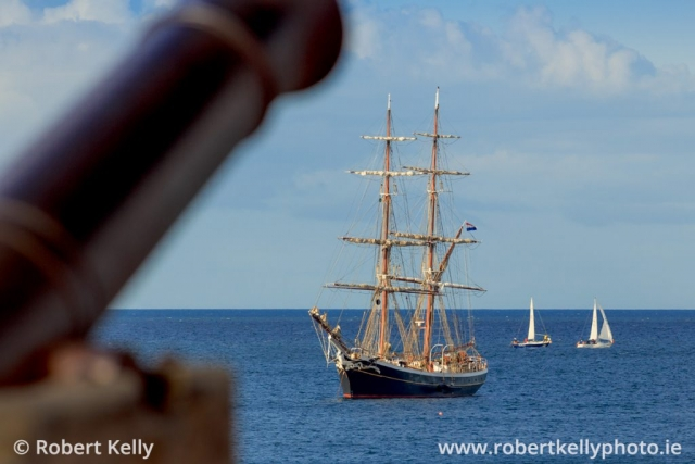 "The Dutch brig ""Morgenster"" off the East Pier, Dun Laoghaire"