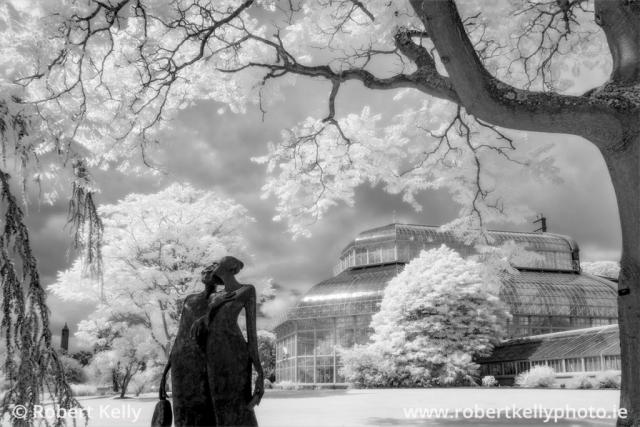 Infrared image of the National Botanic Gardens, Dublin, Ireland
