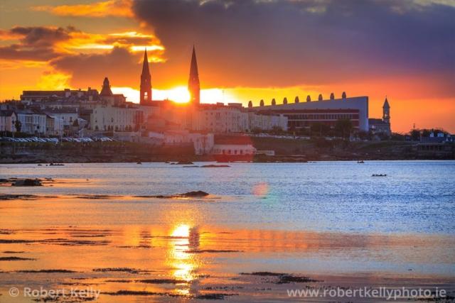 Sunset at Scotsman's Bay, Dun Laoghaire, County Dublin, Ireland