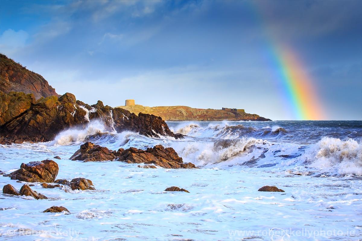Stormy seas at Whiterock Beach Dalkey