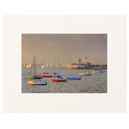 """Thursday evening regatta at Dun Laoghaire Harbour. Fine art print 11"""" x 14"""""""