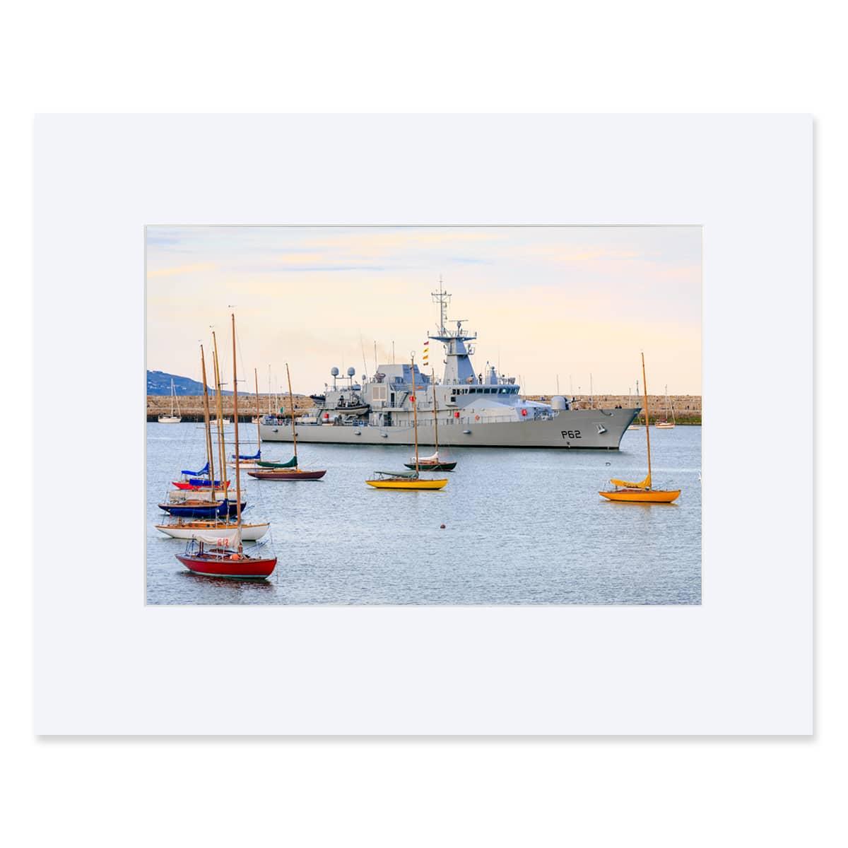 """LE James Joyce OPV arriving at Dun Laoghaire Harbour. Fine art print 11"""" x 14"""""""