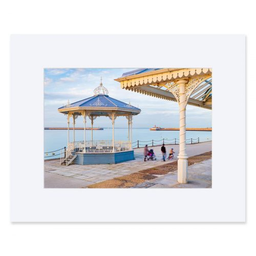 Victorian bandstand on the East Pier, Dun Laoghaire Harbour. Fine Art Print 11 x 14 inches