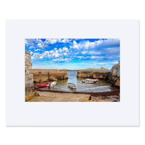 Coliemore Harbour, Dalkey at low tide