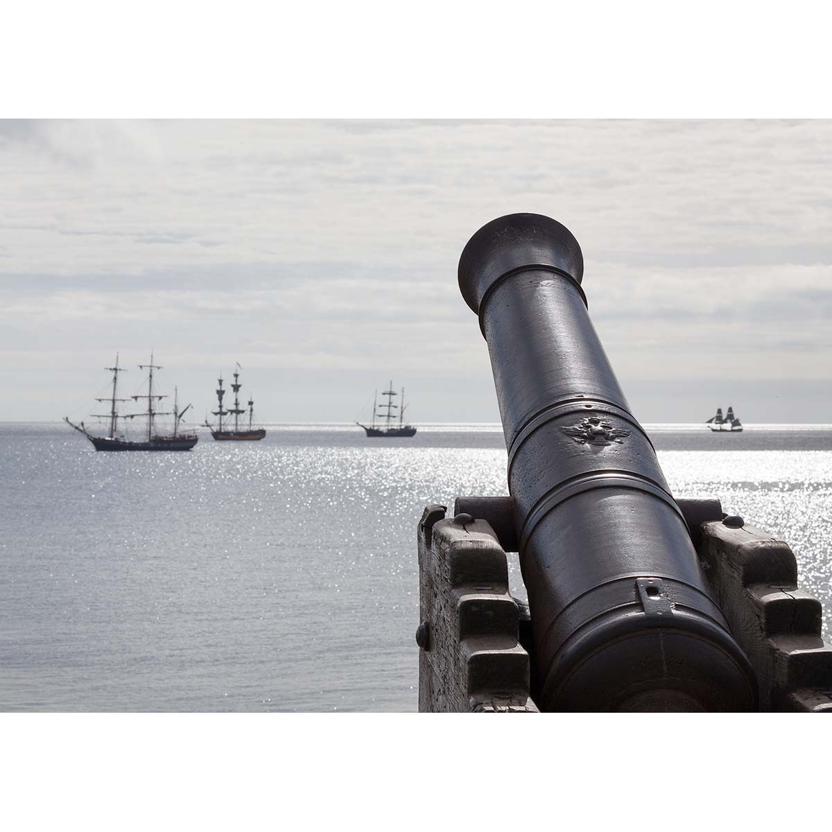 Russian Cannon from Sevastopol on display in Dun Laoghaire