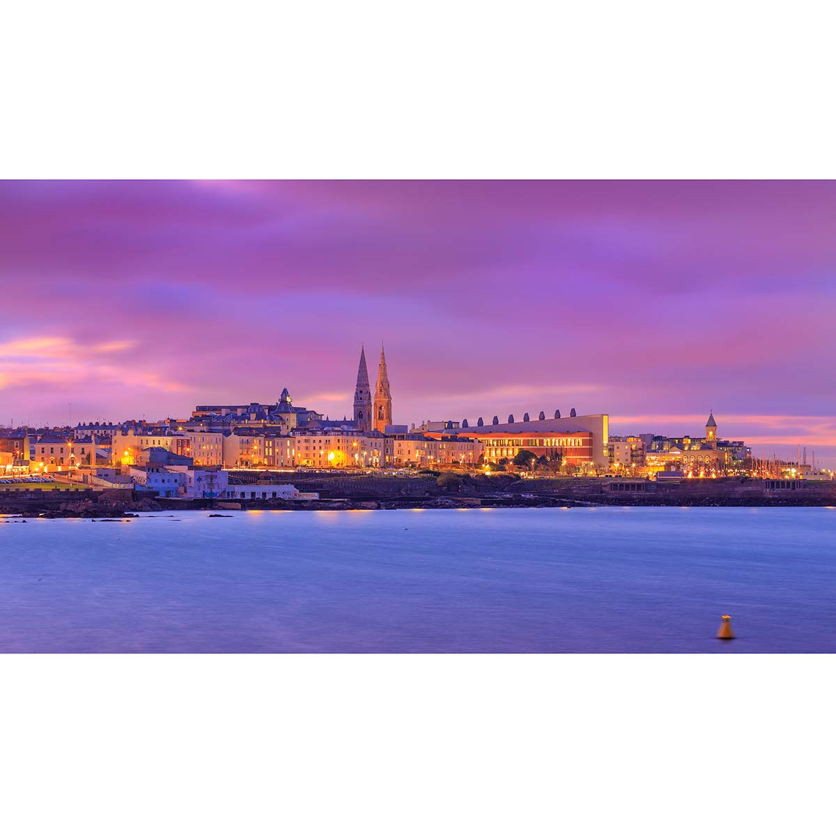 View of Dun Laoghaire skyline by night © Robert Kelly