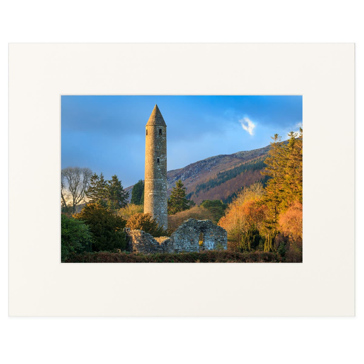 The Round Tower at Glendalough monastic city, County Wicklow