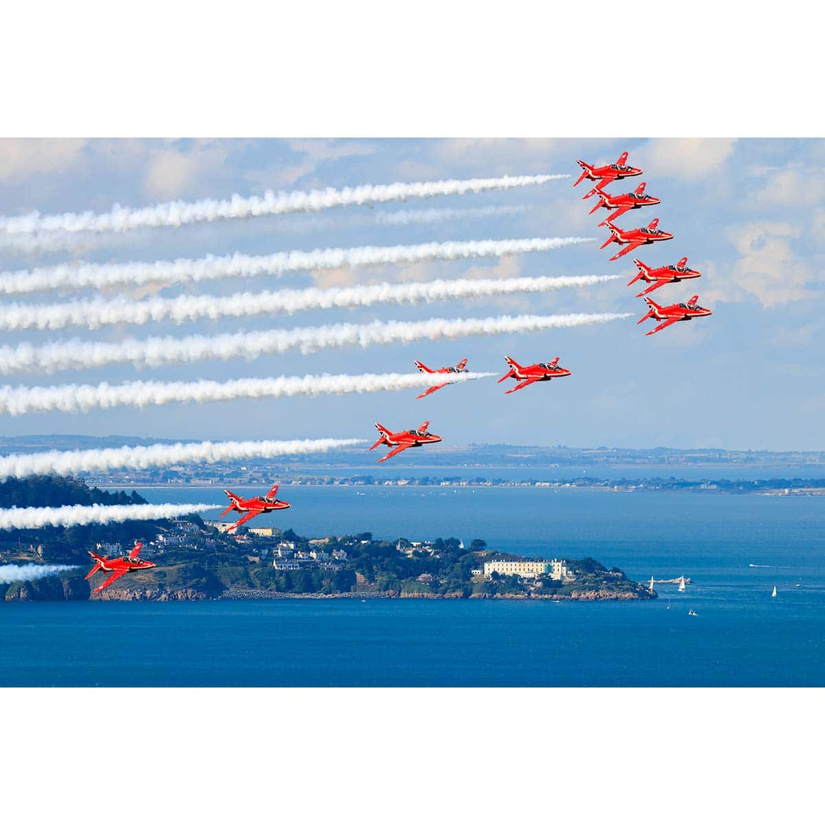 RAF Red Arrows over Killiney Bay