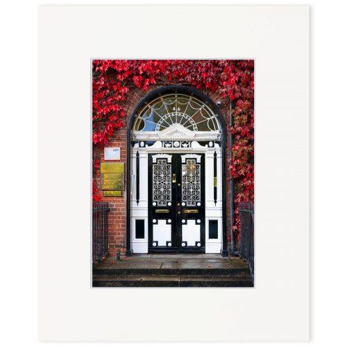 """Georgian door, Fitzwilliam Square. Fine art print 8"""" x 10"""""""