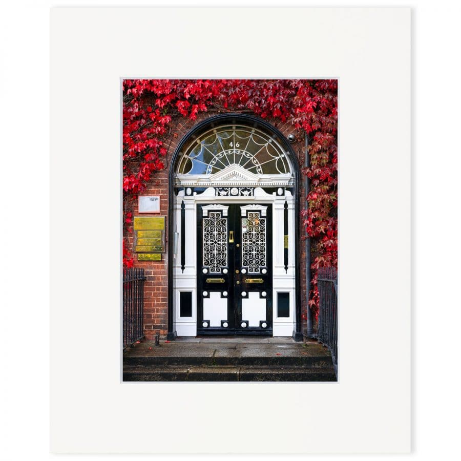"Georgian door, Fitzwilliam Square. Fine art print 8"" x 10"""