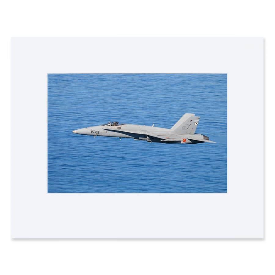 "EF-18 Hornet. Fine art print 11"" x 18"""