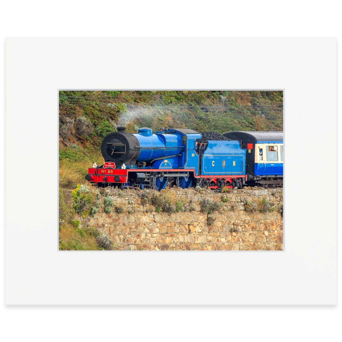 "Locomotive No. 85 ""Merlin"" Fine art print 8"" x 10"""
