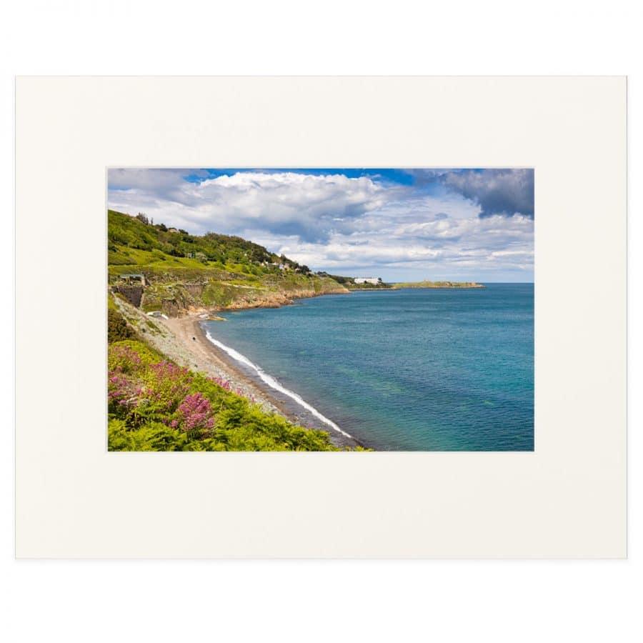 "View of Whiterock Beach, killiney Bay, County Dublin. Fine art print 11"" x 14"""