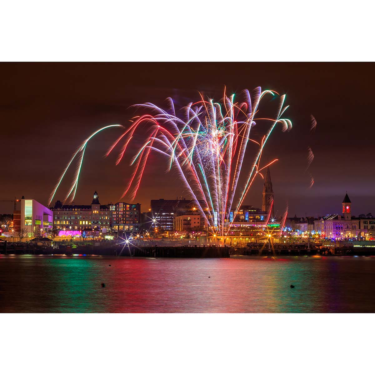 Fireworks display in Dun Laoghaire Harbour