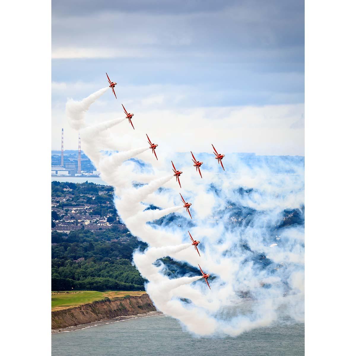 RAF Red Arrows over Bray © Robert Kelly