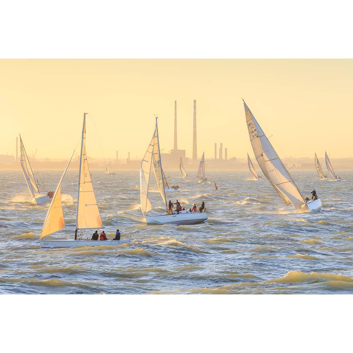 A regatta on Dublin Bay © Robert Kelly